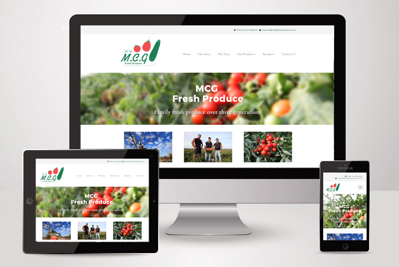 The responsive view of MCG Fresh Produce designed and built by Kasio99