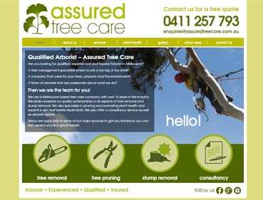 Kasio99 web design and development for Assured Tree Care