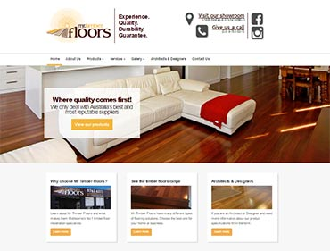Kasio99 web design and development for Mr Timber Floors