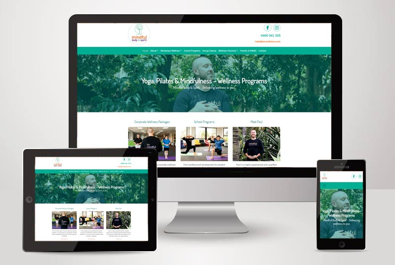 The Mindful Body and Spirit website designed and built by Kasio99