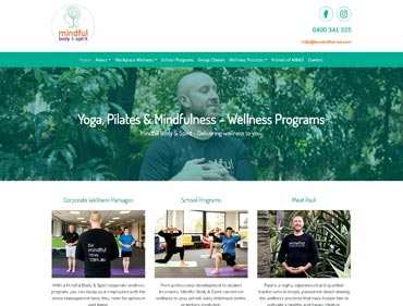 A screenshot of Kasio99 Website development for a Melbourne workplace wellness instructor.